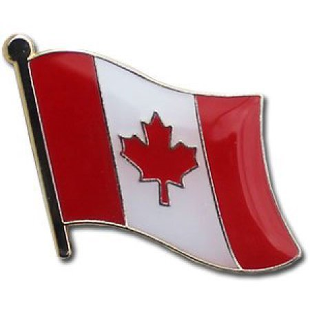 Canada Flag Metal Collectible Olympic Backpack/Hat Pin - International Travel Lapel Pins of Maple Leaf Flag Feuille D'érable (Canadian pin, 0.75