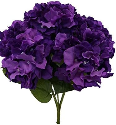 Amazon Com Sweet Home Deco 18 Super Soft Silk Hydrangea