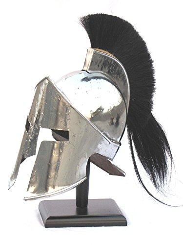 [MEDIEVAL 300 SPARTAN ARMOUR HELMET SILVER - WEARABLE CRUSADER RE-ENACTMENT COSTUME] (Spartan Princess Costumes)