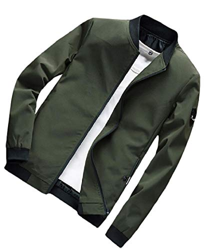 Green Collar Army Stand Plus EnergyMen Pocket Casual Splice Outwear Zips Coat Size qtWWpwPBv