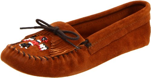 Minnetonka Womens Thunderbird Softsole Mocassino Marrone