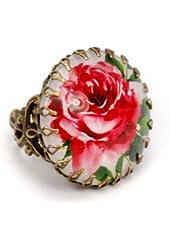 Sweet Romance Red Rose Ring