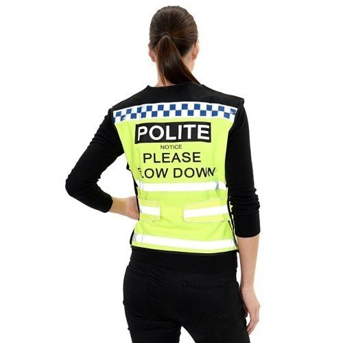 May Vary UK Size  XL May Vary UK Size  XL Equisafety Polite Please Slow Down Waistcoat (UK Size  XL) (May Vary)