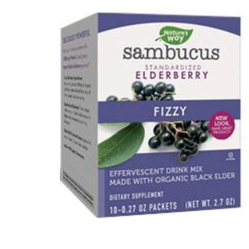 Sambucus Fizzy Organic Elderberry Packets, 10 Count (3 Pack)