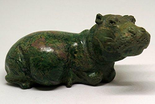 Shining Stones Gifts 7.5OZ Natural Green Serpentine Jasper Crystal Carving Art -