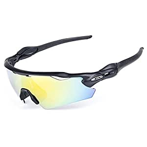 Amazon.com: Lorsoul UV400 Polarized Sunglasses Sports ...