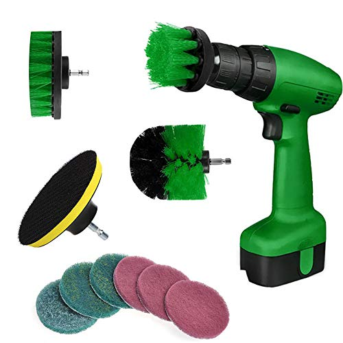 Finetoknow 10Pcs/Set Tile Grout Power Scrubber Cleaning Drill Brush Kit Scrub Tub Cleaner Tools