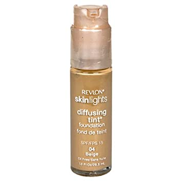 Revlon SkinLights Diffusing Tint Foundation, SPF 15, Beige 04, 1 Fluid Ounce 29.5 ml