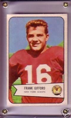 1954 Bowman Football Frank Gifford Card #55 (Ex+) Condition ()