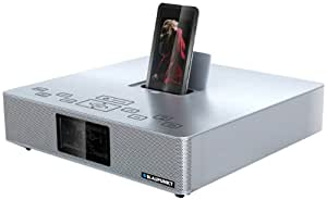 Blaupunkt IP 240 SV acoplamiento altavoz - Altavoces (2.1, 35W, 6 Ohmio, iPhone, iPod, SD, CT, PS, PTY, RT) Plata