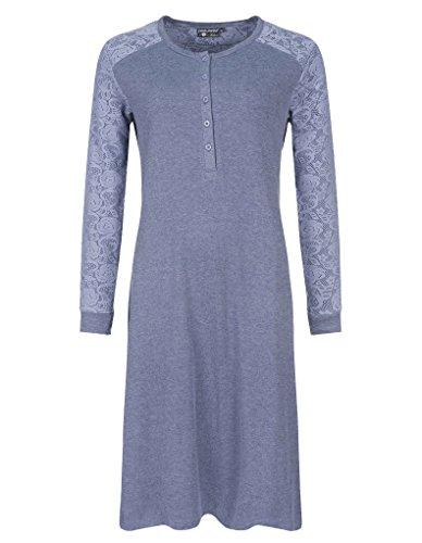 Pastunette Deluxe 1062-334-4-442 Women's Baumwoll Nachtkleid Nachtgewand in Blau
