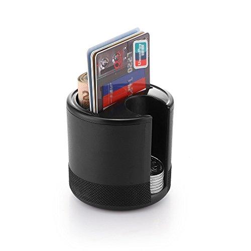 25 Mm Coin Shape (AOZBZ Mini Car Plastic Storage Box Organizer Holder Cup for Coins Cards Slot Keys, 2.8 inch)