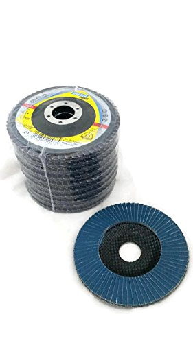 10 pack GRIT 80 KLINGSPOR SMT 324 EXTRA 4-1//2-Inch by 7//8-Inch 40 Grit Zirconia Angle Grinder Flap Disc Premium
