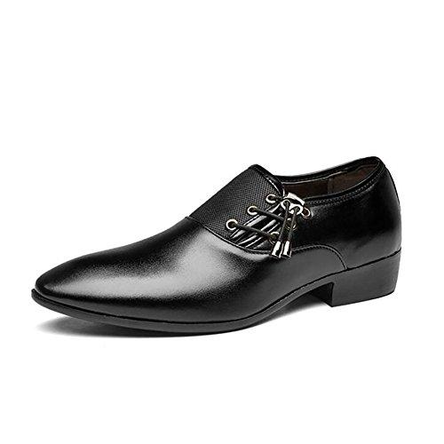 Dimensioni Scarpe 40 Black Formale Lavoro D'affari Scarpe Wild Di Casual Scarpe Uomo Abbigliamento Grandi Qzny Soft f6vtqwZx