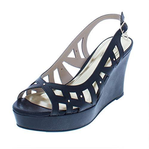 Thalia Sodi Womens Ebbie Fabric Open Toe Casual Platform, Black, Size 8.0 Csvi from Thalia