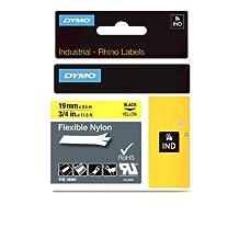 19mm 3/4in Tapes Yellow Flexible Nylon-Rhinopro Indust Prnt