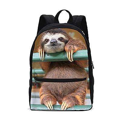 FeHuew Girls 3D Cute Sloth Backpacks Bookbag Shoulder Bag for Unisex Laptop Bag Back to School | Kids' Backpacks