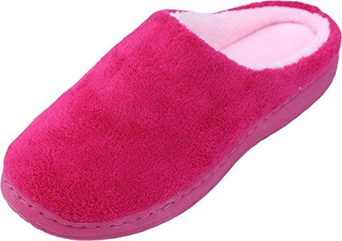 Luxehome Womens Slip On Indoor/Outdoor Coral Fleece Footwear/Slippers