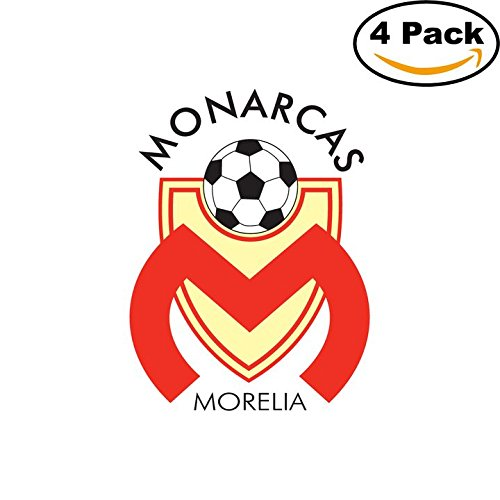 fan products of Monarcas Morelia Soccer Liga MX Mexico Decal Logo 4 Stickers 4X4