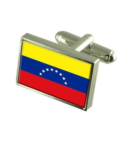 Venezuela Boutons de manchette drapeau avec select pochette cadeaux