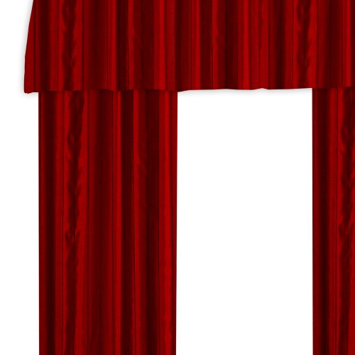 Veratex The Braxton Collection Contemporary Style 100% Polyester Construction Living Room Grommet Style Fastener Window Panel Curtain, Merlot, 84