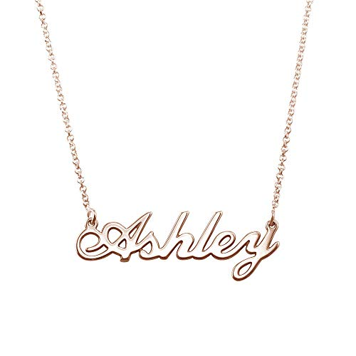 Rose Gold-Plated Personalized Name Necklace - Custom Made with Any Name!