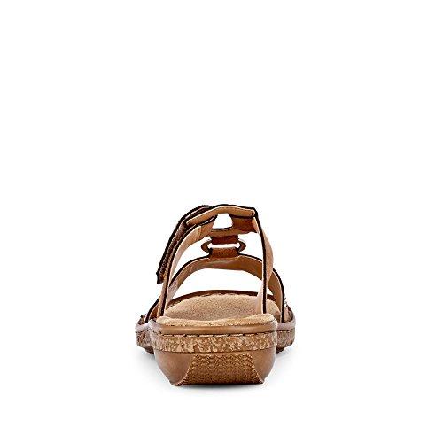 Woman Rieker Microvelo Braun Sandal Noce 40Bq7x