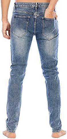 4130CoVpyKS. AC LONGBIDA Men's Slim Fit Jeans Stretch Tapered Leg Jean    Product Description