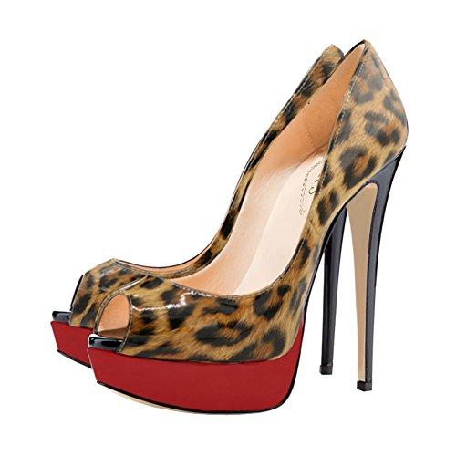 Leopard Eks Escarpins Leopard Eks Femme Eks Femme Escarpins Escarpins 6wq7FzB7