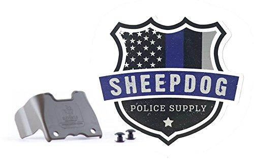 Sheepdog Police Supply Eleven 10 Shirt Shield for Rigid TQ Tourniquet Case and Logo Sticker (Ranger Green)