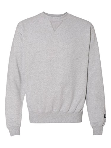 Champion Men's Max Crewneck Full Athletic Fit Sweatshirt, silver gray, Medium by Champion