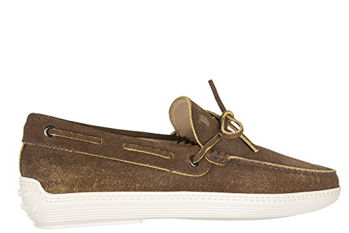 Tod's mocassins homme en daim laccetto marlyn marron