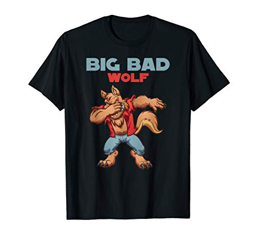 big bad wolf shirt Halloween Costume dabbing wolf shirt -