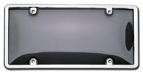 Cruiser Accessories 60320 Novelty / License Plate Shield and Frame, Smoke and Chrome (Frame Performance Accessories)