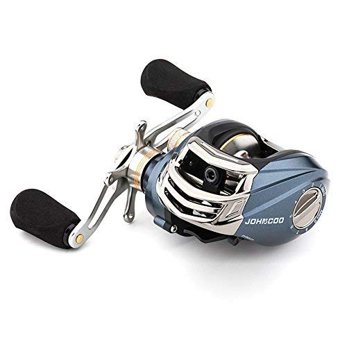 JOHNCOO Baitcasitng Fishing Reel 6.53 oz Low Profile Reel Good Value Smooth Baitcaster (Left Hand Retrieve)