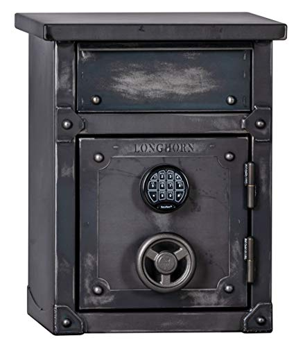 LONGHORN LNS2618 Nightstand by Rhino Metals, Gun Safe, Security Safe, End Table w/Heavy Duty Drawer, 60 Minutes Fire Protection, Electronic Lock and Bonus Handgun Holder