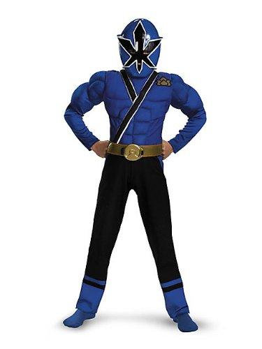Blue Ranger Samurai Classic Muscle Child Costume - Medium