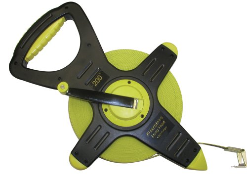 CST/berger 74-Y2008 200ft Fiberglass Zip-Line, Pro-Series Open Reel Tape in FEET/8THS