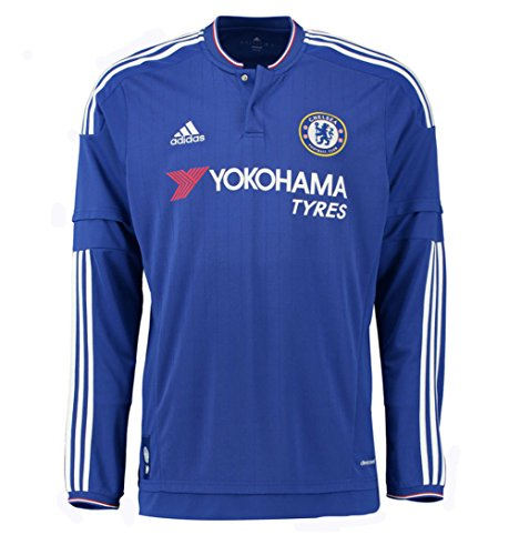Long Sleeve Replica Jersey - Adidas Chelsea FC Home Long Sleeve Jersey-CHEBLU (XL)