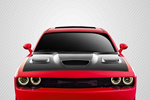 Carbon Creations ED-GVX-823 Hellcat Look Hood - 1 Piece Body Kit - Fits Dodge Challenger 2008-2018