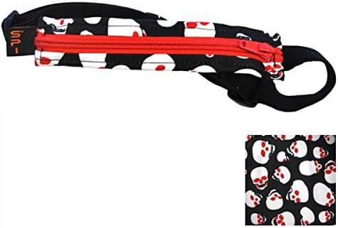 Noir Spibelt dorigine Basic with Red Zipper Sac de Course S//XL