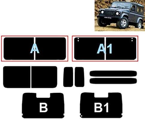 Láminas Solares para Tintar Las Lunas del Coche-Land Rover Defender 90 3-Puertas 1991-2009 Ventanas Traseras & Luna Trasera (35% Medio Ahumado, A1-B)