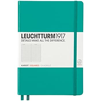 Leuchtturm1917 Classic Hardcover Squared Medium Notebook Emerald