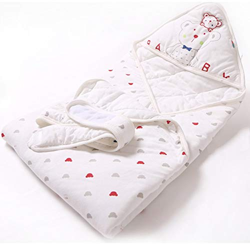 RubyShopUU Spring Autumn Newborn Baby Blanket Soft Cotton Bamboo Fiber Kids Receiving Blankets Swaddle Bedding Sleeping Bag