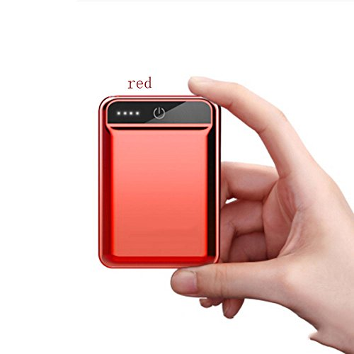 Mini Charging 10000mAh Portable Lightweight Ultra-Small Mobile Power Mobile Phone Universal (Color : Red)