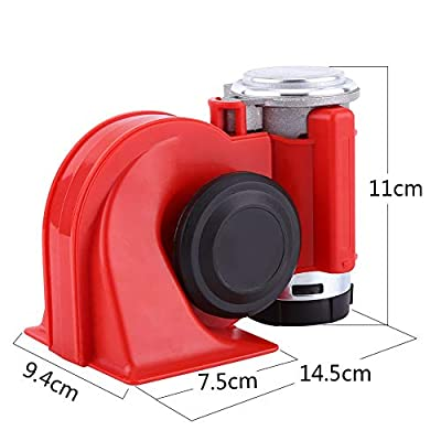 SoundOriginal 12Volt Loud Car Air Horn Big Truck Horn 150db with Automotive Relay Electric Horn for Truck Car Motorcycle (Red): Automotive