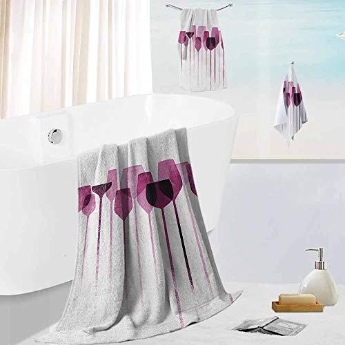 Leigh R. Avans Wine,3 Piece Bathroom Towel Set Conceptual Collage Artwork with -