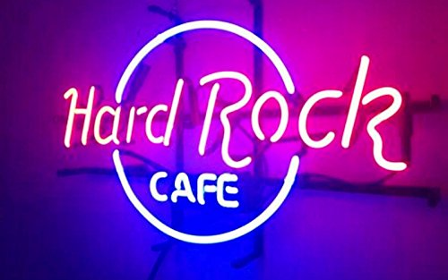 LiLingU Neon Signs, Real Glass Neon Sign ''Hard Rock Cafe'' Appropriate for Gifts, Bar Signs with High Fine Process for Bar, Pub, Hotel, Restaurant, and Home Wall Decor.