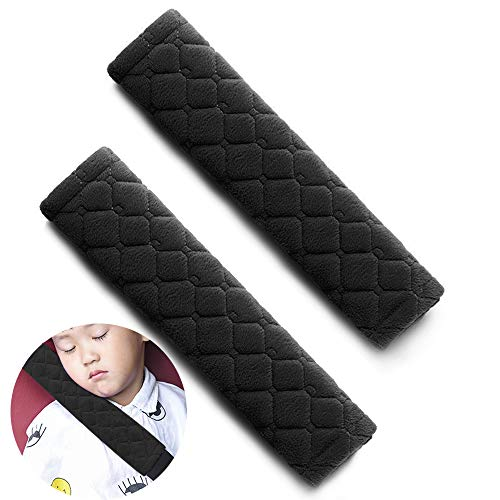 Replacement Pads Fly (surpassme Car Seat Belt Pads Cover, 2 Pack Seat Belt Shoulder Strap Covers Protector to Release Stress to Your Neck and Shoulder for a Safety Driving (Black))