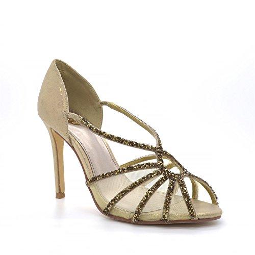 Poze Gold Collection Aurelia, WoMen High Heels Gold